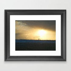 Snowy Walk Framed Art Print