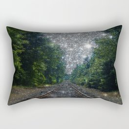 Train Tracks Sparkling Dream : Next Stop Anywhere Rectangular Pillow
