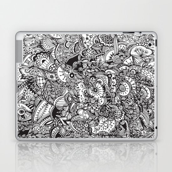 Detailed rectangle, black and white  Laptop & iPad Skin
