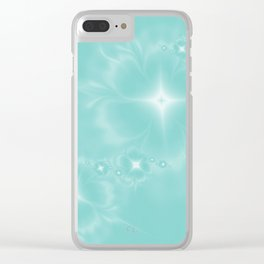 Fleur de Nuit in Aqua Tone Clear iPhone Case