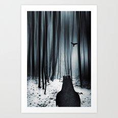 dark promise - raven Art Print