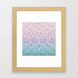 Spring Mermaid Scales Framed Art Print