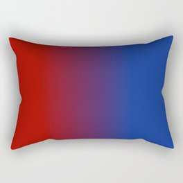 Ombre in Red Blue Rectangular Pillow