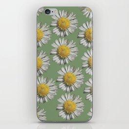 pastel daisy mania iPhone Skin
