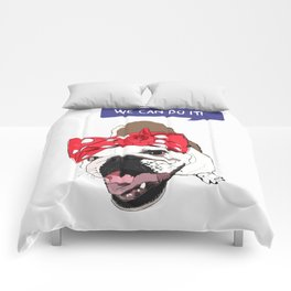 We Can Do it! Rosie the Bulldog Comforters
