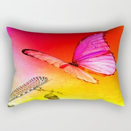 The butterfly, the caterpillar and the chrysalis Rectangular Pillow