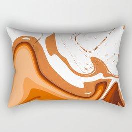 Warm Colors Abstract Design Rectangular Pillow