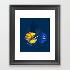 Sending it back Framed Art Print