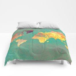 world map 103 #worldmap #map Comforters