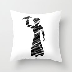 Norman Bates behind the curtain Throw Pillow