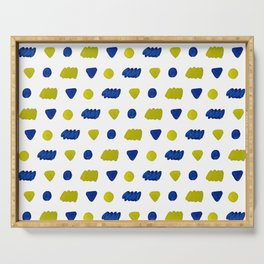 Blue and yellow pattern Serving Tray