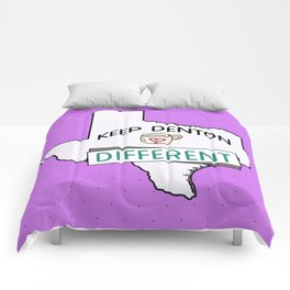 Keep Denton Different Comforters