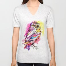 Neon Northern Pygmy Owl Unisex V-Neck