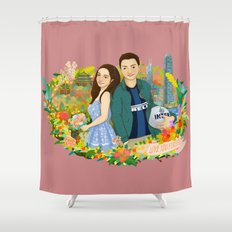 Custom illustration for a couple Shower Curtain