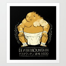 death mountain dojo Art Print