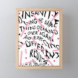 Quote by Albert Einstein Framed Mini Art Print