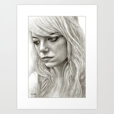 Emma Stone / Samantha Thomson / Birdman Art Print