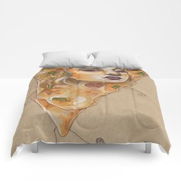 PIZZA LADY Comforters