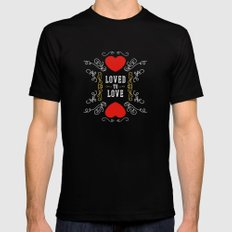 Loved to Love Mens Fitted Tee Black MEDIUM