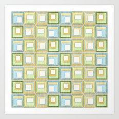 English Country Tiles. Art Print