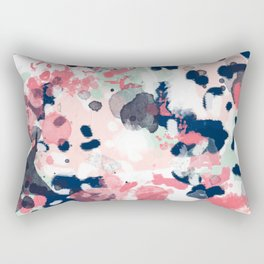 Lola - Painted abstract trendy color palette minimal decor nursery home Rectangular Pillow