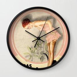 Vintage French Fashion Ad Wall Clock