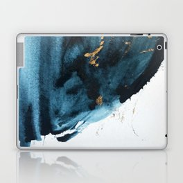 Sapphire and Gold Abstract Laptop & iPad Skin