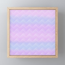 Chevron Candy floss Framed Mini Art Print