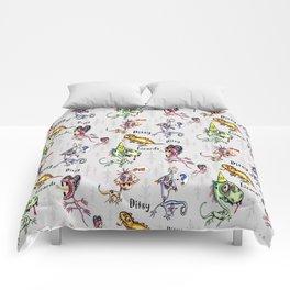 ditsy dopey lizards Comforters