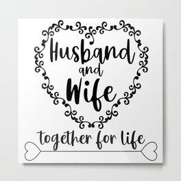 Husband and Wife Metal Print
