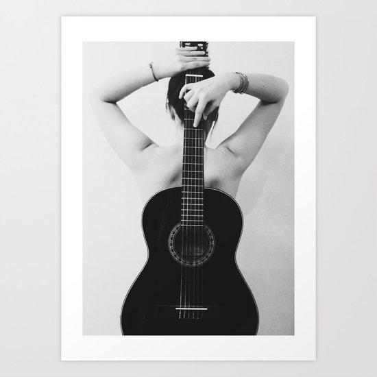 Me and my guitar Art Print