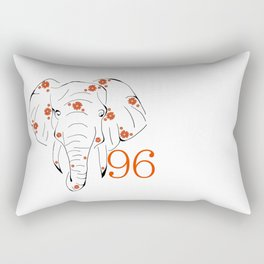 96 Elephants Rectangular Pillow
