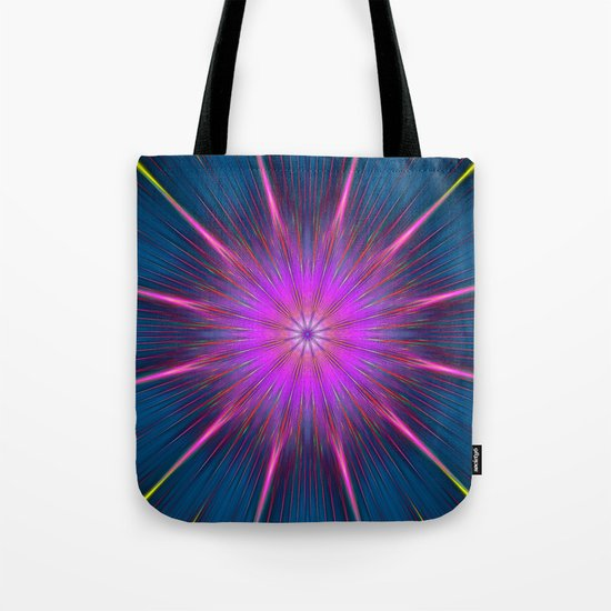 Artistic bright shining abstract star Tote Bag