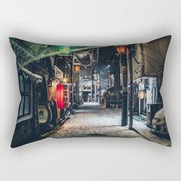 Japan Tokyo alley at Snowy Night Rectangular Pillow