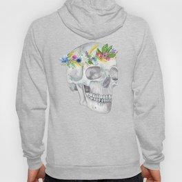 Human Skull: Floral Anatomy Hoody