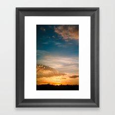 Where the sun rises Framed Art Print