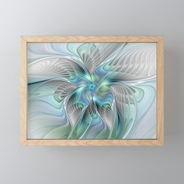 Abstract Butterfly, Fantasy Fractal Art Framed Mini Art Print