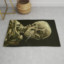 Vincent van Gogh Head of a Skeleton with a Burning Cigarette Rug