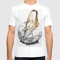 Cervantes MEDIUM White Mens Fitted Tee