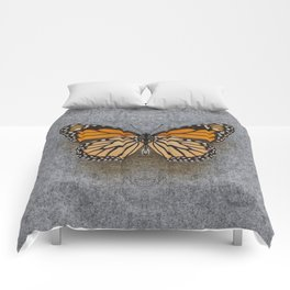 Monarch Butterfly Beneath Comforters