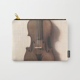 Vintage Violin and Bow Illustration (1889) Carry-All Pouch