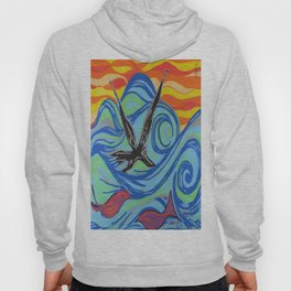 The ocean, waves, birds, and fishes Hoody