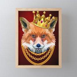 The King of Foxes Framed Mini Art Print