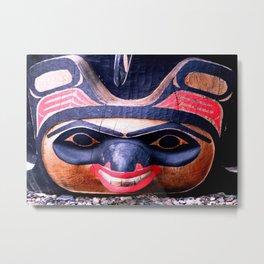 Alaskan Mask Metal Print