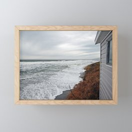 Land and Sea and the line Between Framed Mini Art Print