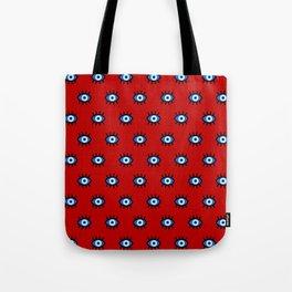Evil Eye on Red Tote Bag