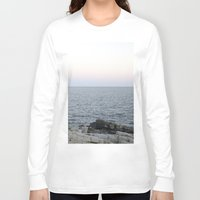 maine Long Sleeve T-shirts featuring Maine Coast by AlanW