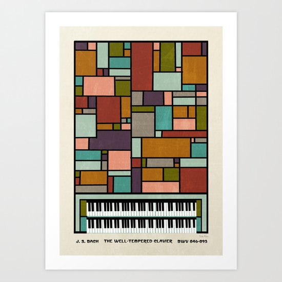 The Well-Tempered Clavier - Bach Art Print