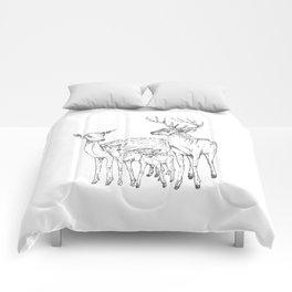 deer family Comforters