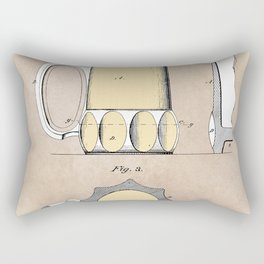 patent Beer Mugs Rectangular Pillow